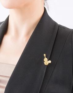 北欧デザインジュエリー「Lilla Rio(リラリオ)」バイオリンのクリップ