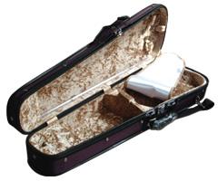 日本製 ヴァイオリンケース 三角ケースの中サンプル