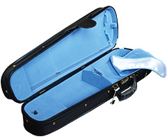 日本製 ヴァイオリンケース 三角ケース(ポケット付)の中サンプル