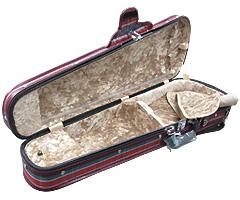 日本製 ヴァイオリンケース 三角ケース(ポケットなし)の中サンプル