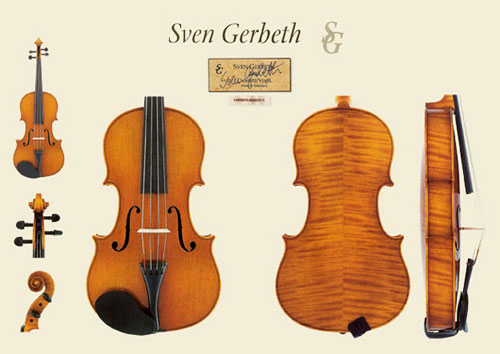 新作ドイツ ミグマ社 Sven Gerbeth(スベン・ゲルベス)バイオリンの販売