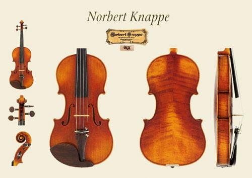 新作ドイツ Nobert Knappe(ノバート・クナッペ)バイオリンの販売