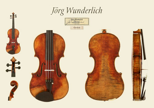 新作ドイツ ミグマ社 Jörg Wunderlich(ヨルク・ヴンダリッヒ) バイオリンの販売